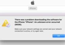Ipad restore error 9006