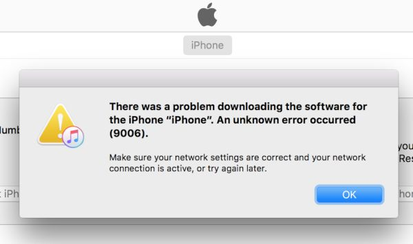 How to Fix Error 9006 iTunes on Computer Restoring/Updating