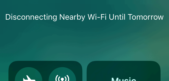 What Does 'Disconnecting Nearby WI-FI Until Tomorrow' Mean