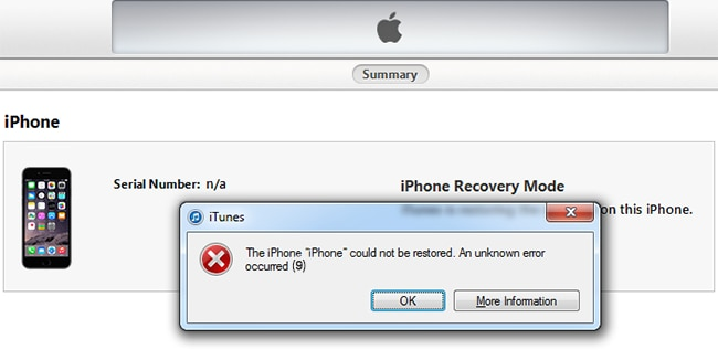 How to Fix iTunes Error 9 When Restoring or Updating iPhone