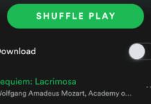 Spotify shuffle play