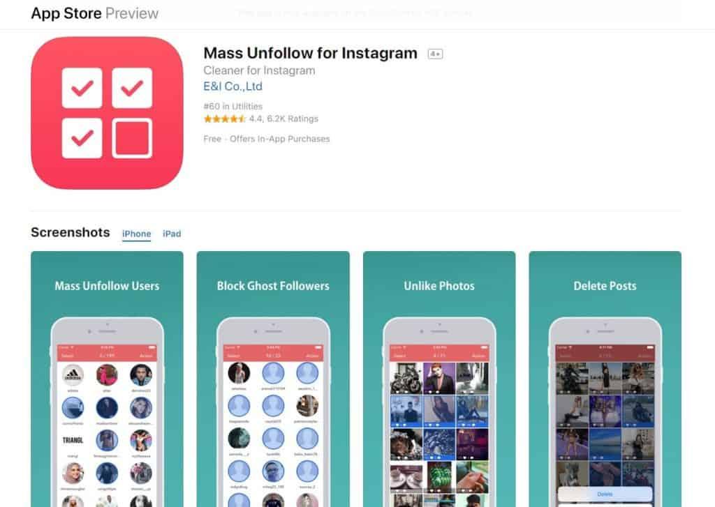 Mass Unfollow for Instagram