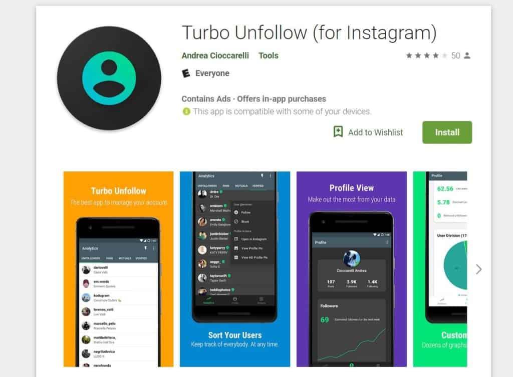 Turbo Unfollow for Instagram