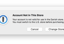 Account not in this store. Your account is not valid for use in the store
