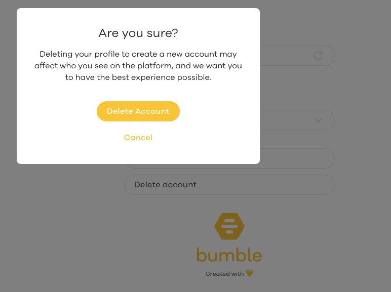 Reset algorithm to how bumble Bumble's New
