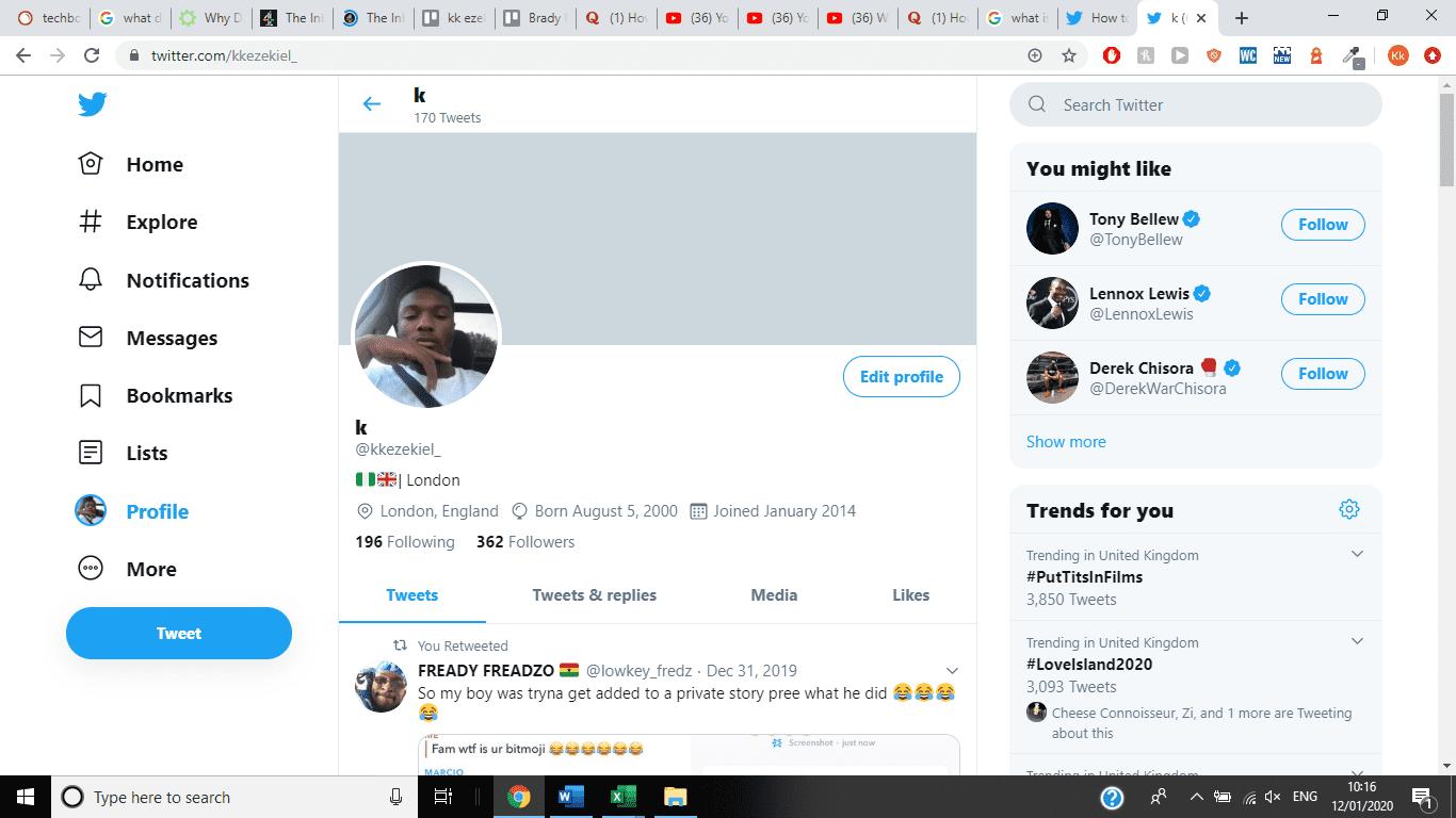 Hide Birthday On Twitter