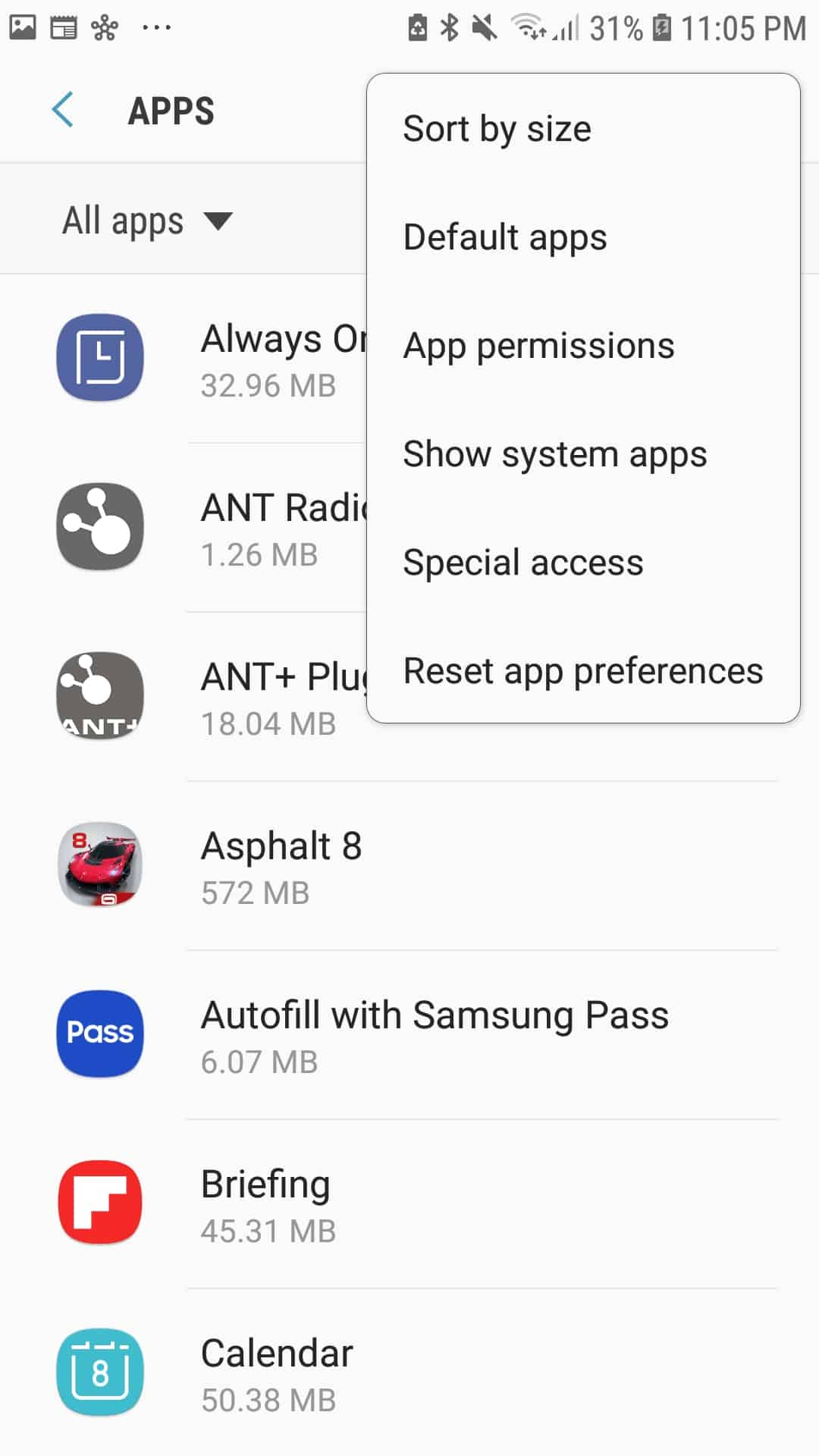 Show System Apps