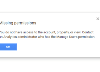 Missing Permissions In Google Analytics